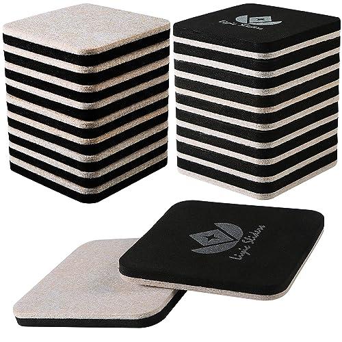 Liyic 20 Pack 3in Square Felt Sliders, Sliders For Furniture