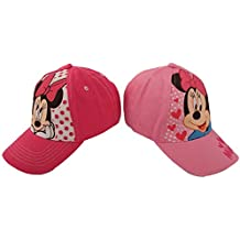new york 42402 5f04e Little Girls Assorted Character Cotton Baseball Cap, 2 Piece Design Set, Age  2-