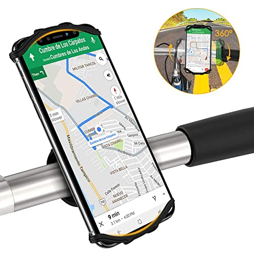 Detachable 360/° Rotation Bike Phone Mount Holder with Adjustable Universal Silicone Handlebar Cradle for iPhone 11//Pro//XS//MAX//XR//X//7//8//Plus Bike Motorcycle Phone Mount Google Pixel Nubia,LG Galaxy