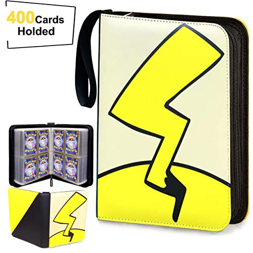 400 Pockets Zipper Binder Card Holder Collectors Album Folder Carrying Case with 50 Premium 8-Pocket Sheets Fit for TCG Baseball and Football Cards Trading Card Binder with Sleeves