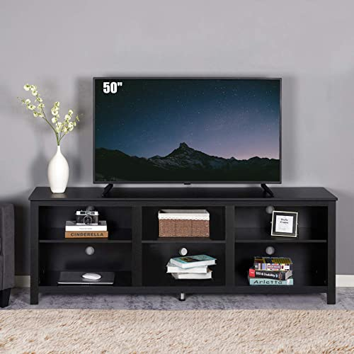 70 Inches Entertainment Center Tv, Tv Stand Media Storage Cabinet
