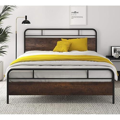 Sha Cerlin Heavy Duty Queen Bed Frames, Heavy Duty Queen Bed Frame With Headboard