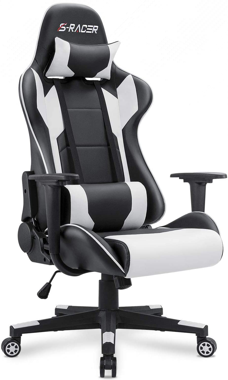 Homall Gaming Chair Office, White Computer Desk Chairs