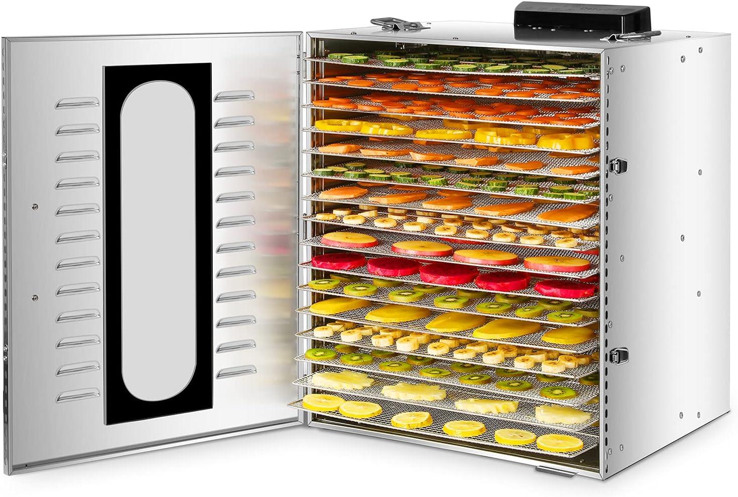 采购不锈钢食品干燥机的食品和牛肉干,1200W 16层水果蔬菜食品干燥机的香草香料牛肉干机的狗的零食在日本网上脱水。B091J23YL6