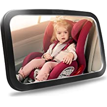 2 Yoolight Baby Car Rearview Mirror Back Seat Rear View Facing Infant in Sight Adjustable Shatterproof and Crash Tested Mirror